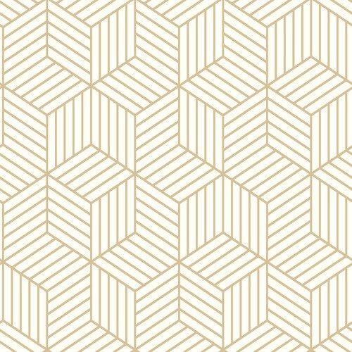 Striped Hexagon Peel And Stick Wallpaper Single Roll Lelands Wallpaper Peelable Wallpaper Peel And Stick Wallpaper Vinyl Wallpaper