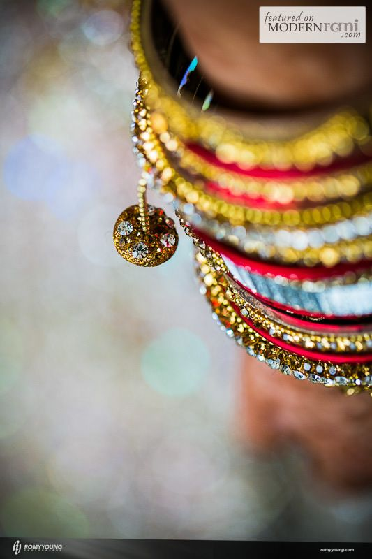 Bridal Bangles - see more inspiration @ http://www.ModernRani.com