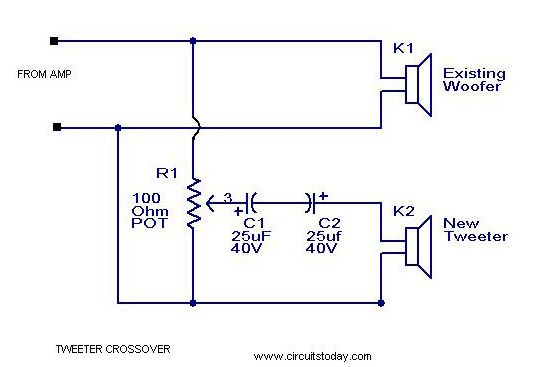 A simple Tweeter Crossover Circuit with Diagram and