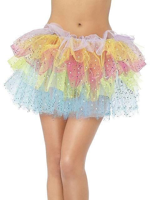 Adult Rainbow Sparkle Tutu with Sequins
