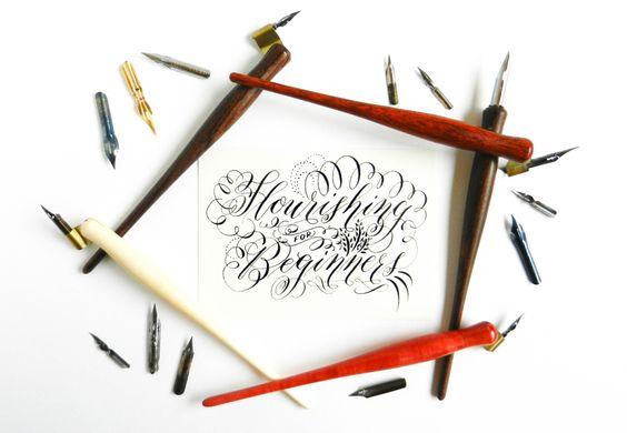 Calligraphy flourishing for beginners free worksheet