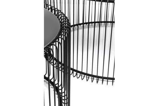 Set de 2 Tables basses Wire noire  321.00 €  L.69,5 cm x l.69,5 cm x H.33,5 cm