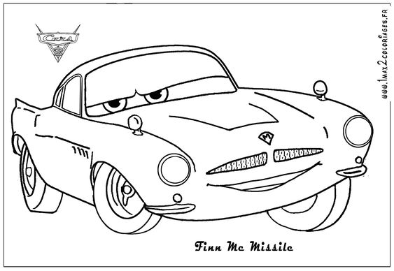 Google Image Result For Http Www Funkydiva Pl Wp Content Uploads 2011 01 Finn Mcmissile Cars2 Colo Cars Coloring Pages Coloring Pages For Kids Coloring Pages