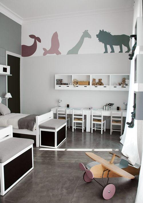 habitacion infantil 1 Dormitorio infantil en tonos neutros