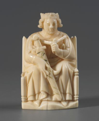 Chesspiece, German, Cologne, ca.1300-1320, carved walrus ivory, London, Victoria and Albert Museum (Inv. No. 213-1867). Photo: © Victoria and Albert Museum, London.: