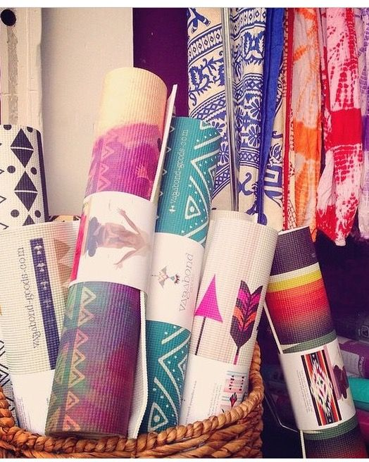 Cool printed Yoga mats by vagabond-goods