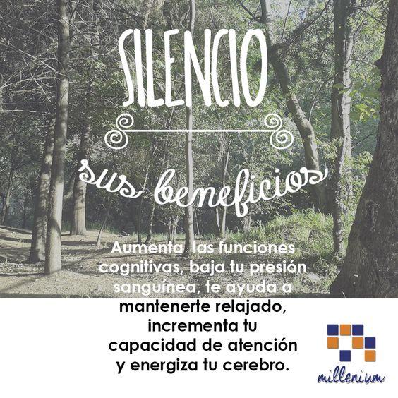 Permanecer callados, quietos, alejados del ruido tiene muchos beneficios como aumentar las funciones cognitivas, baja tu presión sanguínea, te ayuda a mantenerte relajado, incrementa tu capacidad de atención y energiza tu cerebro.