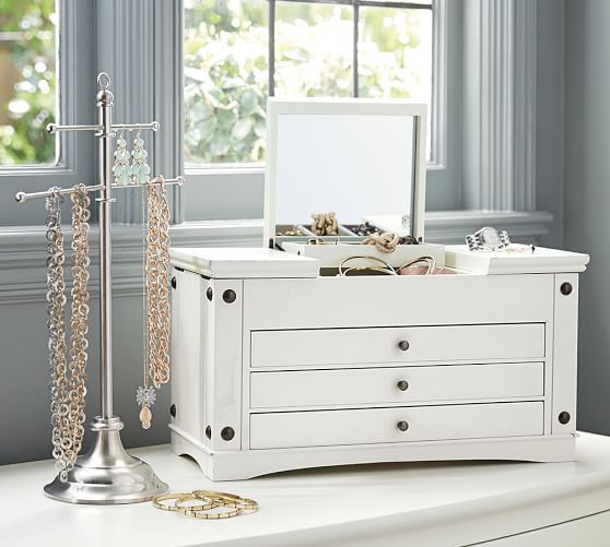 Ultimate Extra-Large Jewelry Box   Pottery Barn