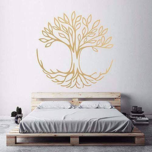 Pbldb 52x52cm Arbre De Vie Stickers Muraux Symbole De Connexion Spirituel Yoga Home Decor Salon Chambre Vin Decoration Salon Decoration Chambre Stickers Muraux