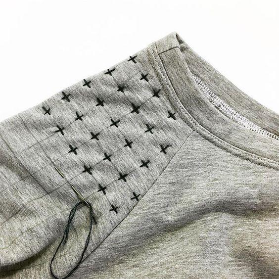 ✂Customização: como cerzir calças com a técnica Boro : a velha arte japonesa de remendar tecidos✂ - Agulha de Ouro Ateliê