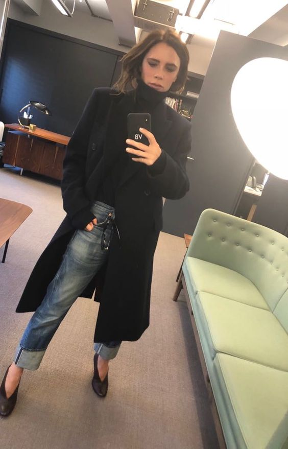 Keeping warm in the office today in my favourite #VBAW17 cashmere poloneck x VB