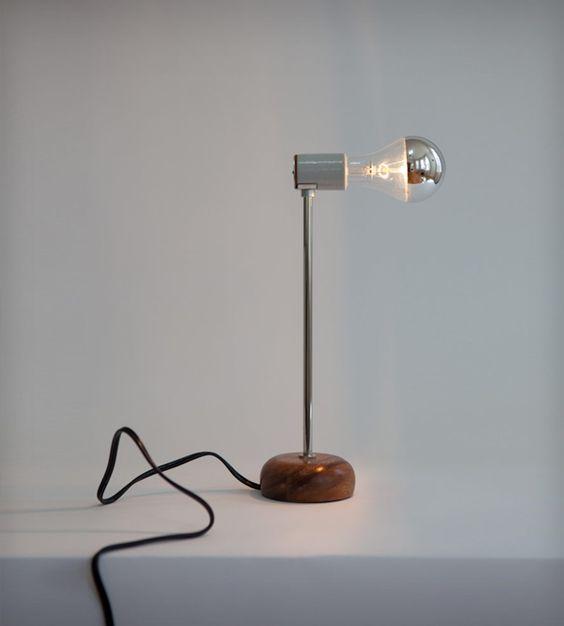 Minimalist Bent Table Lamp