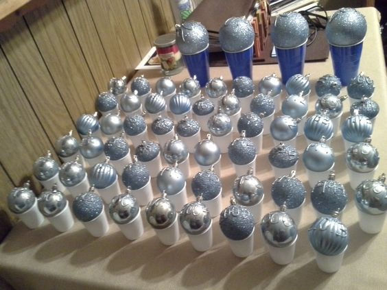 Perfect way to dry ornaments! For small ornaments...sink cups! Large ornaments...solo cups!