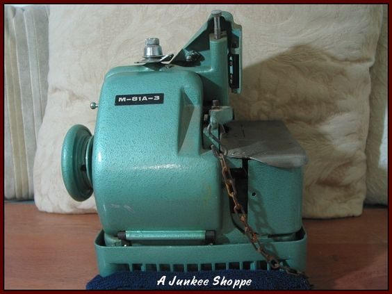 Mercury Over Lock M-81A-3 Sewing Machine 1940's or 1950's  Junk0927  http://ajunkeeshoppe.blogspot.com/