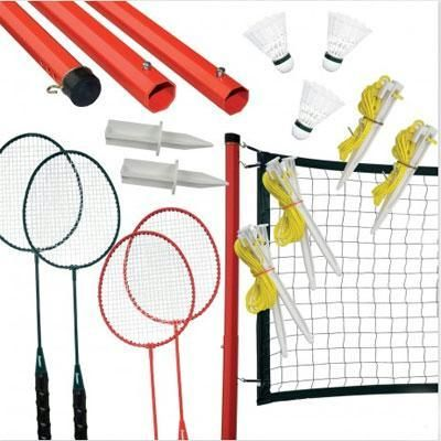 The Franklin Sports Classic Badminton set includes 4 graphite racquets, telescoping net assembly, 3 shuttlecocks and a steel frame carry bag. This set is perfect for the avid badminton player. Great backyard or park fun!