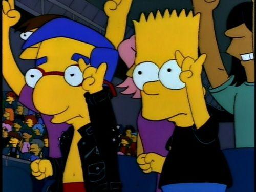 Rock on Bart & Millhouse. Rock on.