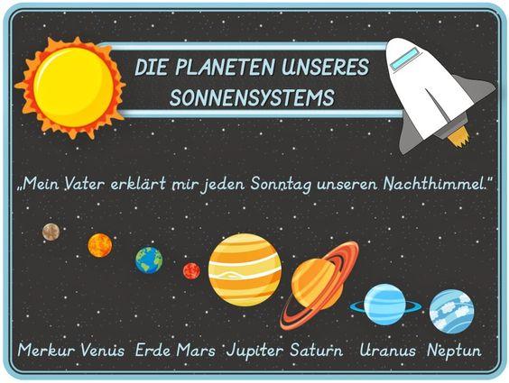Sachunterricht: Planetenkartei