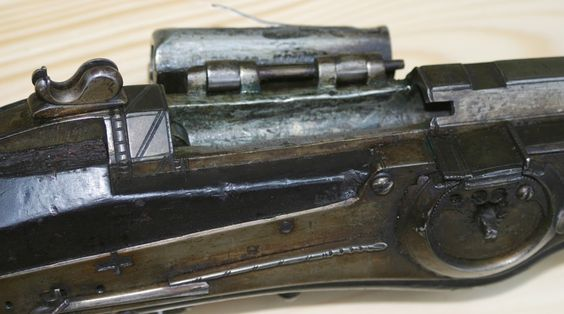 Breechloading Wheel Lock Musket. On closer inspection, however, one finds that the breechblock opens up to the side like a Snider