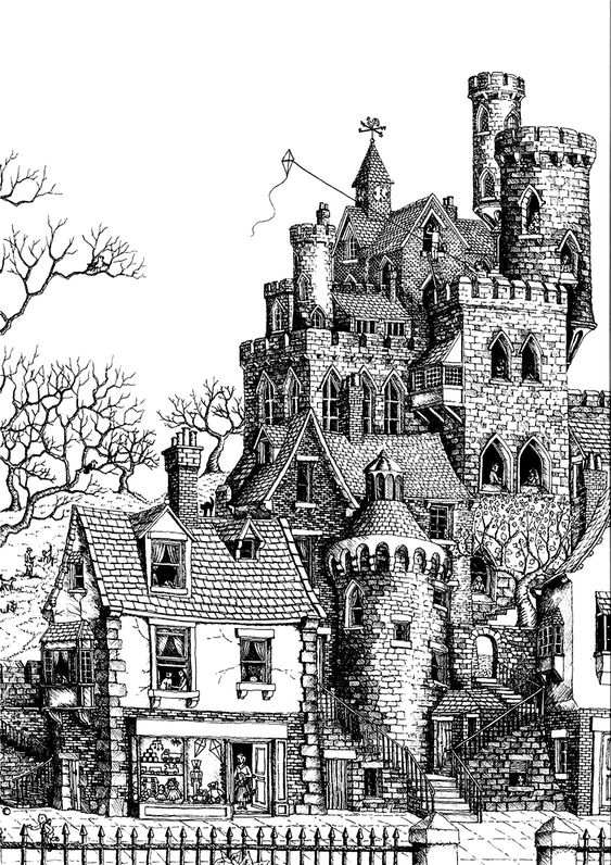 Free coloring page coloringarchitecturecastle