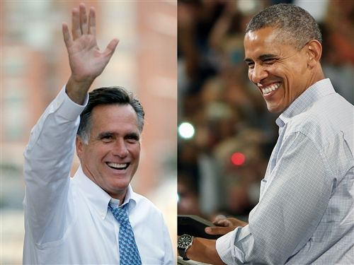 105. 10/15 In the final push in the 2012 presidential election, candidates Mitt Romney and Barack Obama make their last appeals to voters.