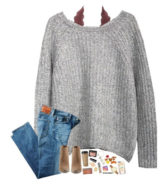 """#psl"" by hopemarlee ❤ liked on Polyvore featuring Charlotte Russe, AG Adriano Goldschmied, Dolce Vita, Casetify, Tory Burch, Alex and Ani, Kendra Scott, Kate Spade, NARS Cosmetics and Urban Decay"