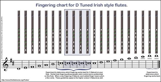 Fingering Chart for PVC Irish Flutes music related Pinterest - flute fingering chart