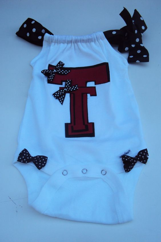 Baby Girls,Toddler Girls Texas Tech Romper Onesies or Tee Shirt. For Your Little Tech Fan. College Football.. $20.00, via Etsy.