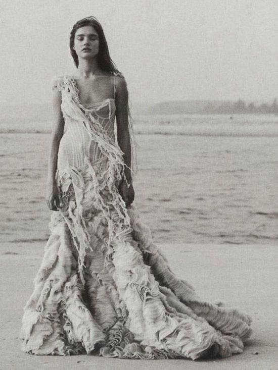 tattered wedding dresses | alexander-mcqueen-dress-1