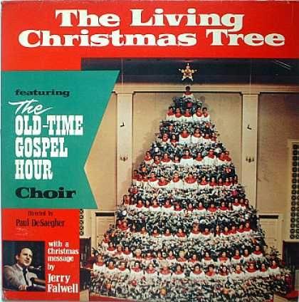 Weirdest Album Covers - Falwell, Rev, Jerry (Living Christmas Tree)