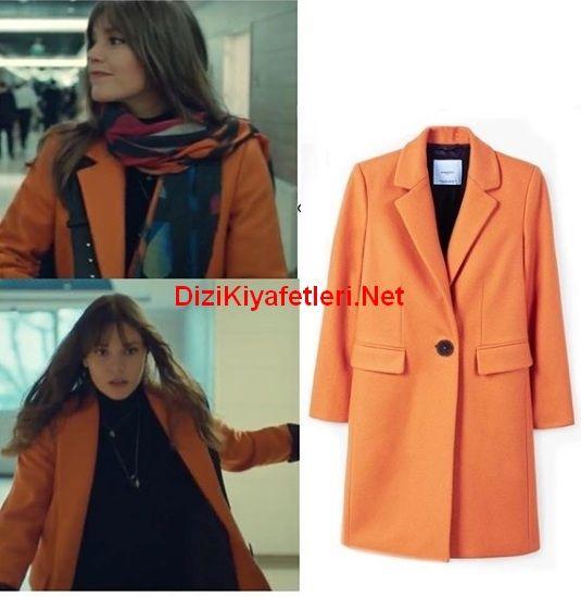 Istanbullu Gelin 40 Bolum Sureyya Turuncu Palto Moda Stilleri Gelin Stil Kiyafetler