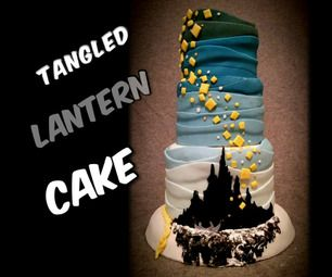 "Disney's Tangled cake. ""I see the light"""