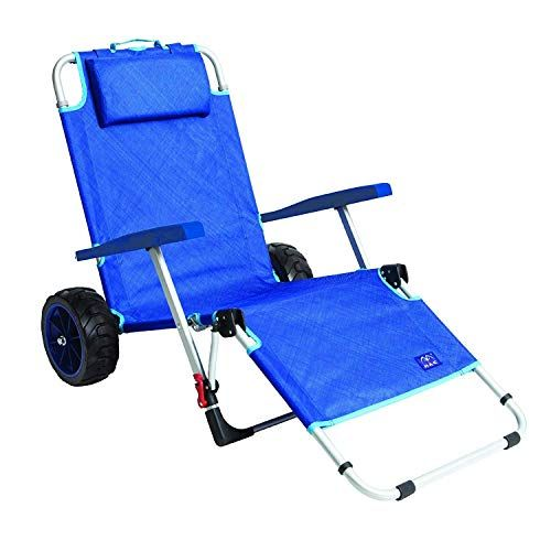 Mac Sports 2 In 1 Outdoor Beach Cart Folding Lounge Chair W Lock Tanning Sunbathing Lounging Pool Back In 2020 Beach Cart Folding Lounge Chair Best Beach Chair