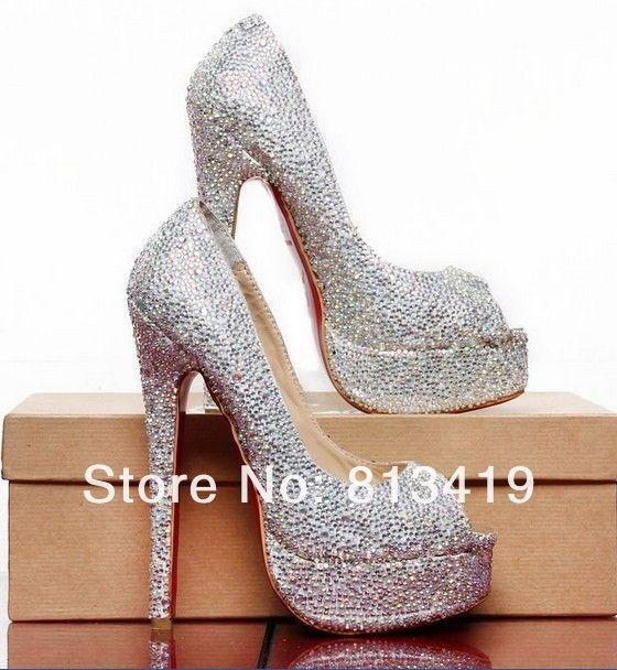 Silver Beaded Heels - Qu Heel