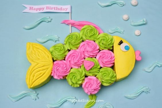 another cute summer party cake, kinda reminds me of one of the Party Art painting by Abbey Thompson: