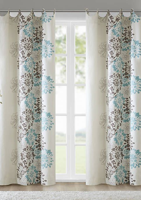 Madison Park Anaya Window Curtain In 2020 Blue And Brown