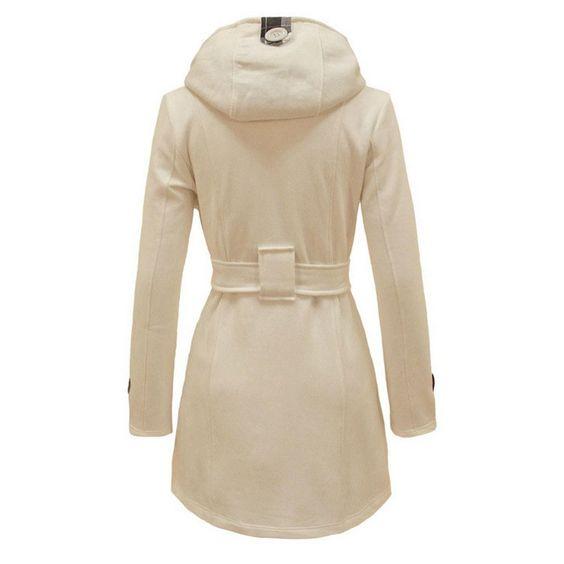 Winter Trench Coat 2016 Hot Womens Coat waist coat Windbreaker Women Female Hooded long section of double breasted wool coat