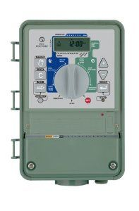 """Orbit Sprinkler System Dial Star Outdoor Mount 57974 by Orbit. $25.99. Heavy-Duty Cabinet - Tough, impact, water and UV resistant provides timer access to maintenance workers.. Keyed Lock - Prohibits tampering. Your choice of electrical connections - 3 pronged plug for standard outlets or 1/2"""" inlet for 110 VAC hard  wiring. From the Manufacturer                This timer can be used for irrigation systems that have up to 9 zones or valves.  The large buttons and LCD sc..."""