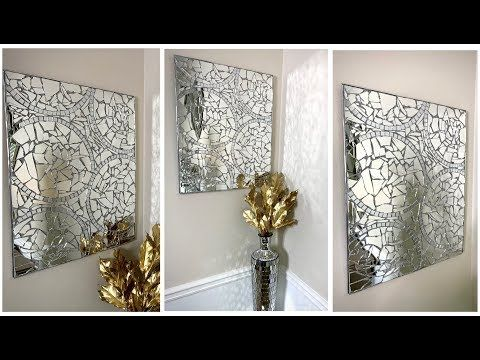635 New Mosaic Wall Art Diy Modern Glam Home Decor Youtube Mosaic Wall Modern Diy Mosaic Wall Art