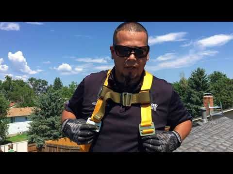 How To Use A Roof Safety Harness Fall Protection Youtube In 2020 Roof Safety Harness Roofing Lowes Roofing