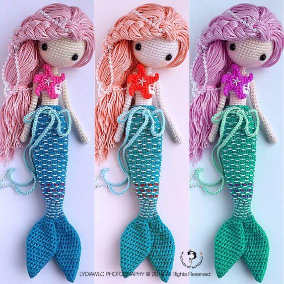 Amigurumi Mermaid Tail : Mermaids, Crochet doll pattern and Crochet dolls on Pinterest