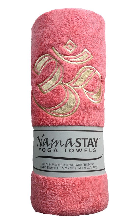 Coral NamaSTAY Yoga Towel gives non-slip protection and firm grip for hands and feet. Its Soft, absorbent, slip-proof fabric provides extra comfort.: