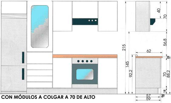 Cocina con isla dimensiones buscar con google cocinas for Planos cocina integral