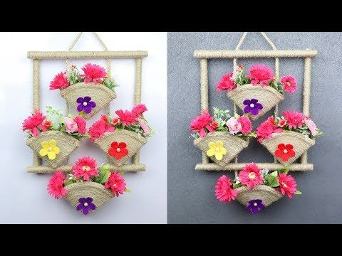 Beautiful Home Decoration Idea With Waste Materials Home Decorating Ideas Handmade Youtube Handmade Decorations Diy And Crafts Sewing Craft Stick Crafts