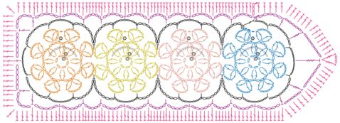 marcador de libros tejido a crochet