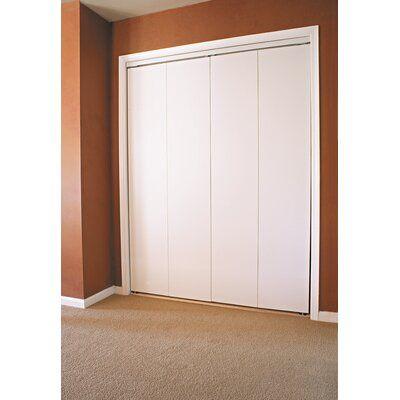 Custom Door And Mirror Flush Manufactured Wood Primed Bi Fold Door