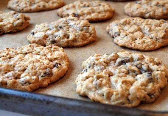 Easy Healthy Cookies = 1 cup rolled oats + 1 banana + 1 min in the microwave or 15 mins @ 350 in oven + raisins, craisins or nuts
