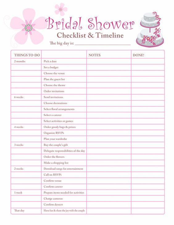 Bridal Shower Planning Checklist Printable Accessoires pour réussir votre mariage sur http://yesidomariage.com