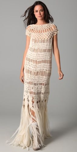 Crochet-Macrame Maxi Dress Inspiration: