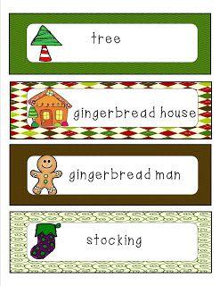 Writing center FREEBIE  Mrs. Bohaty's Kindergarten Kingdom gingerbread, christmas