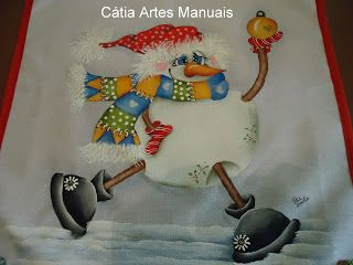 Catia Artes Manuais: Catia Handicrafts, Pinturas Natal, Fabric Painting, Photo